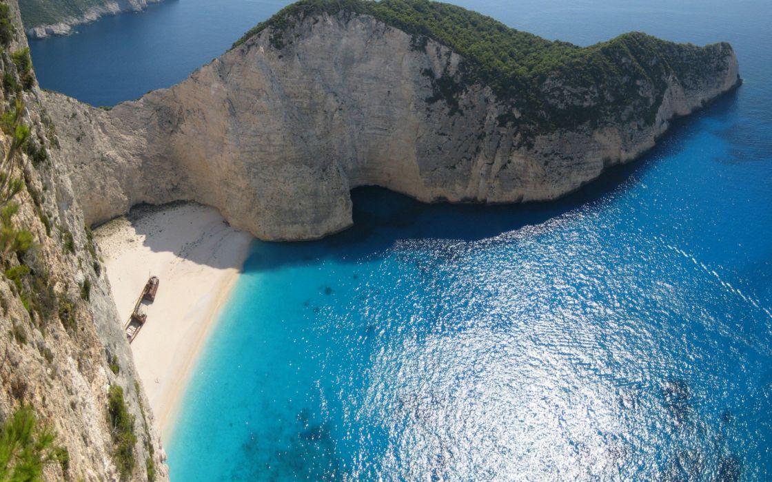 Greece Zakynthos beaches wallpaper