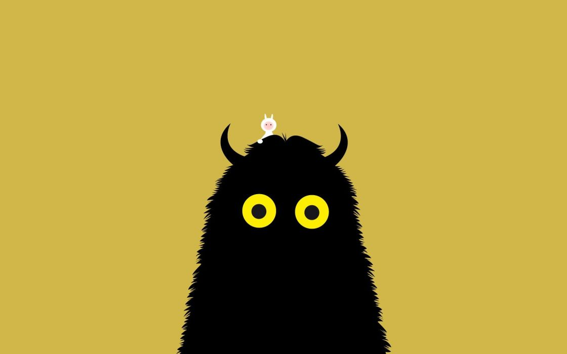 minimalistic yellow eyes Where the Wild Things Are simple background wallpaper