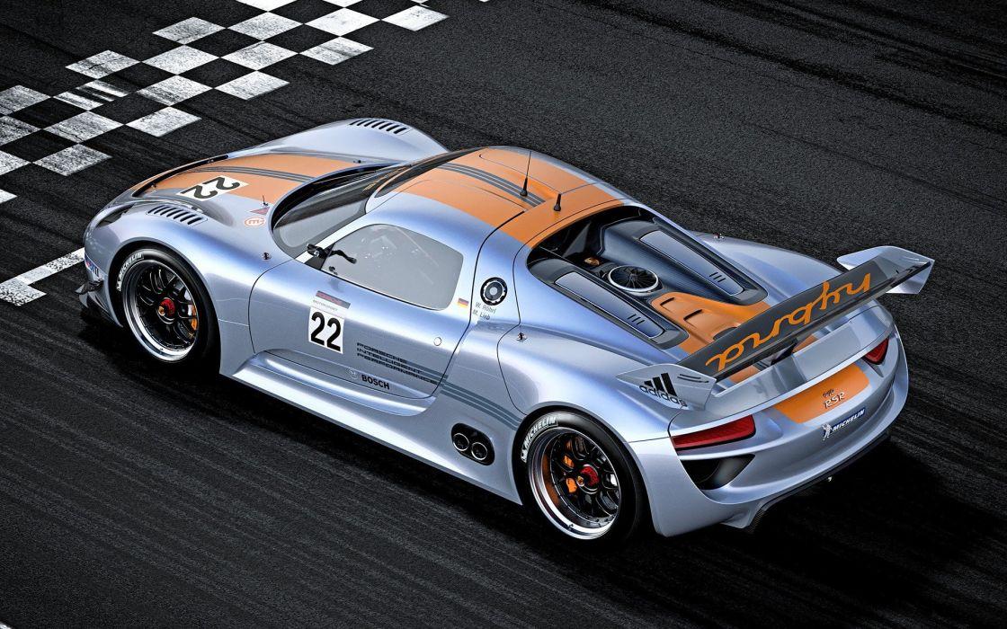 Porsche cars vehicles track Porsche 918 Spyder wallpaper