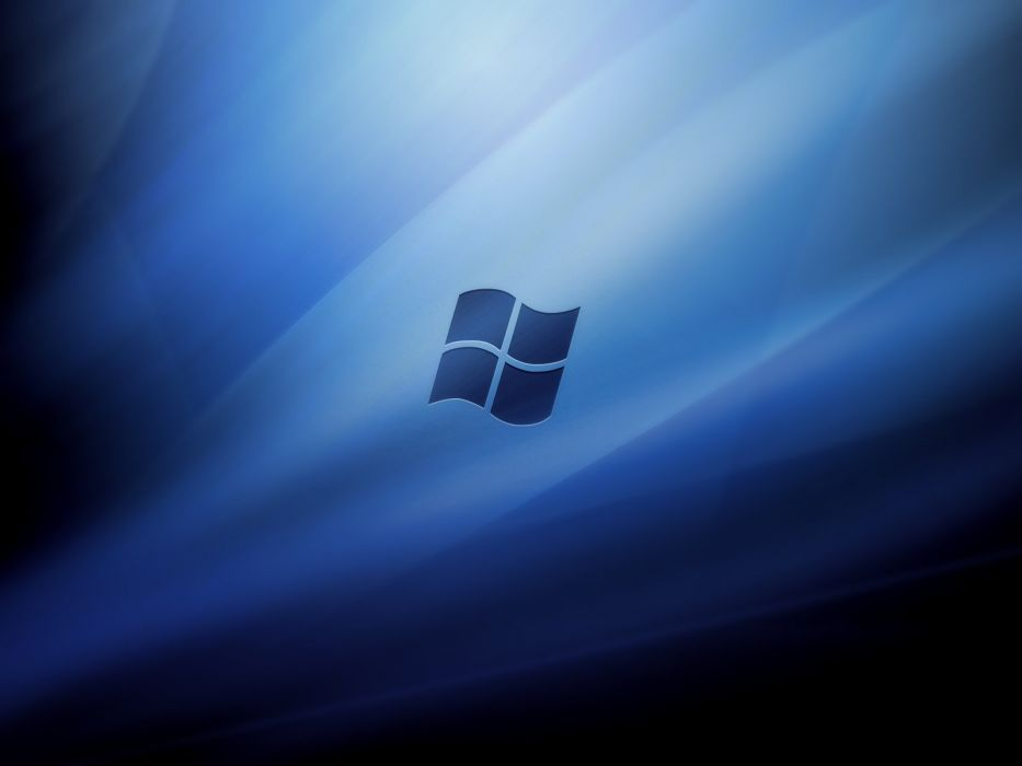 blue Microsoft Windows logos wallpaper
