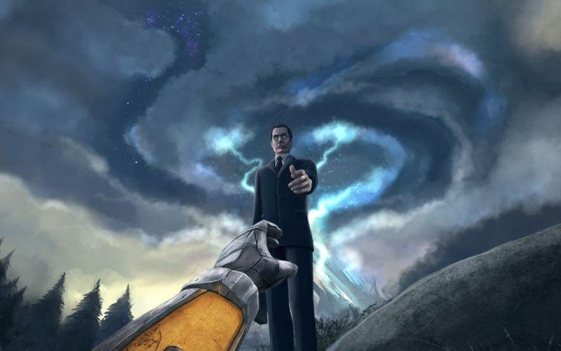 Half-Life Gordon Freeman digital art G-Man Half-Life 2 wallpaper