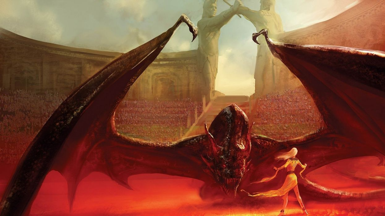 Dragons Fantasy Art Game Of Thrones Daenerys Targaryen House