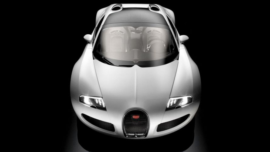 cars Bugatti Veyron silver wallpaper