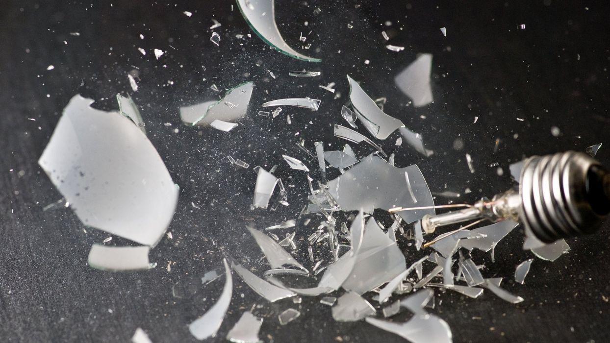 broken glass shattered grayscale bulbs wallpaper