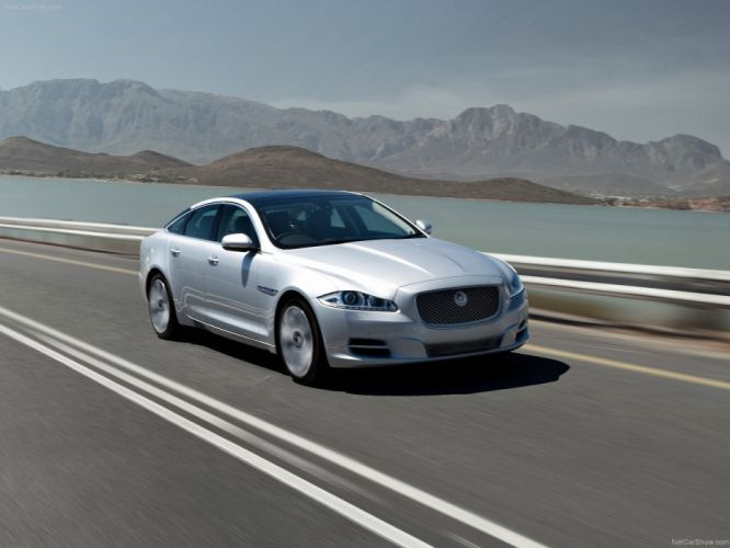cars silver Jaguar XJ wallpaper