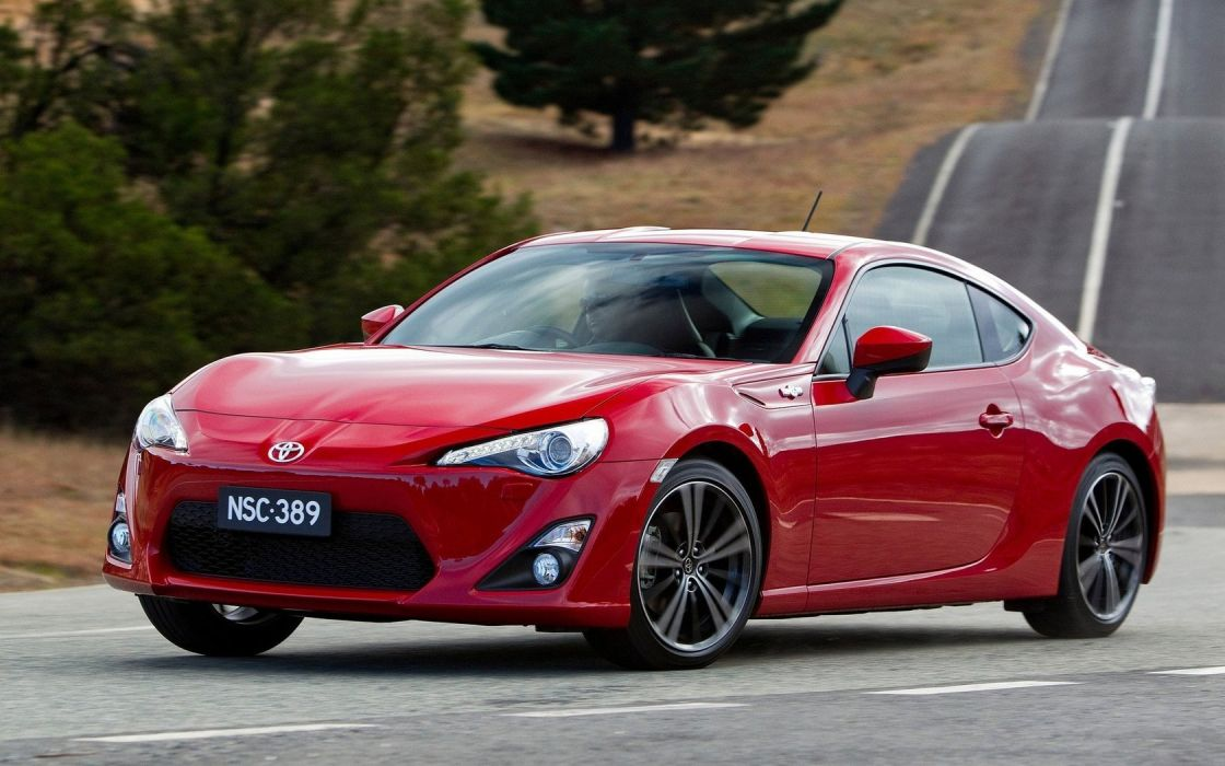 cars roads red cars coupe Toyota 86 GTS wallpaper