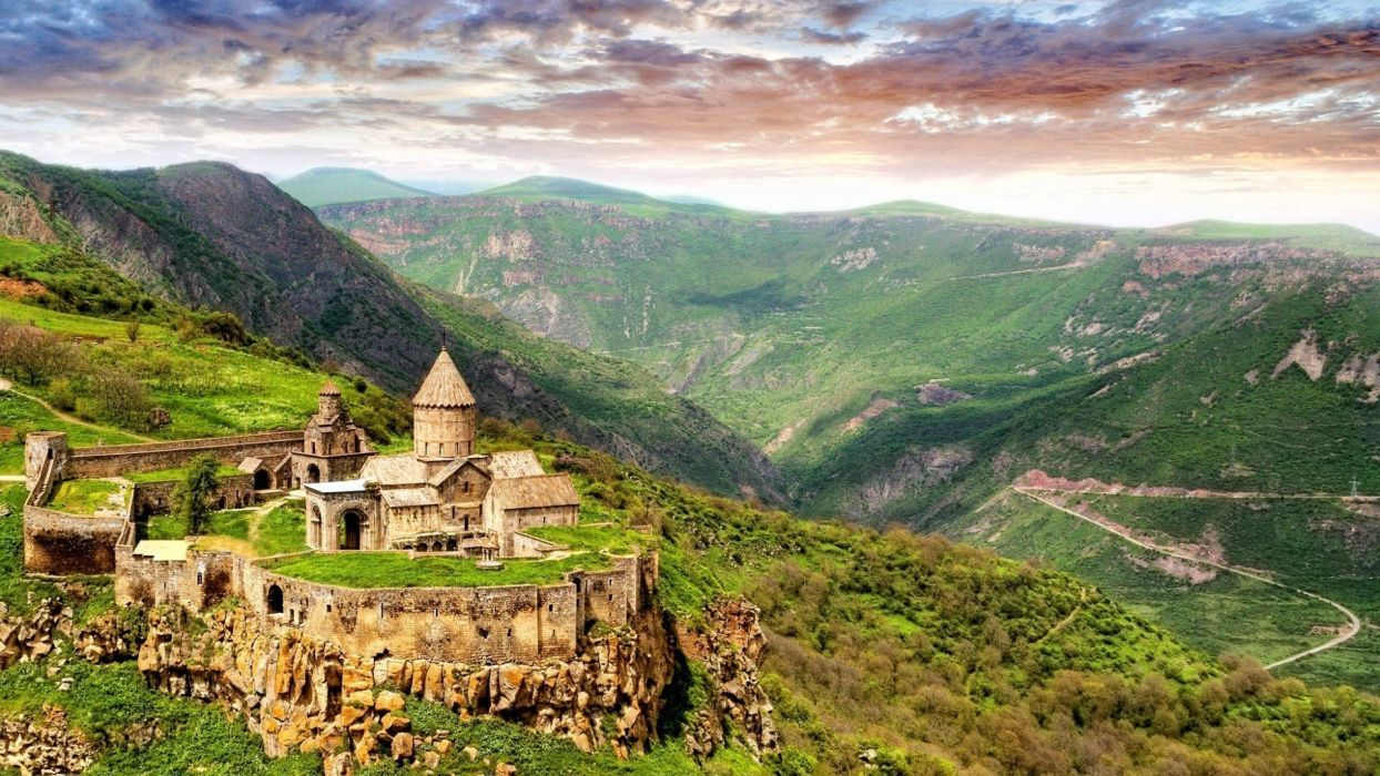 mountains nature castles churches Armenia sightseeing wallpaper