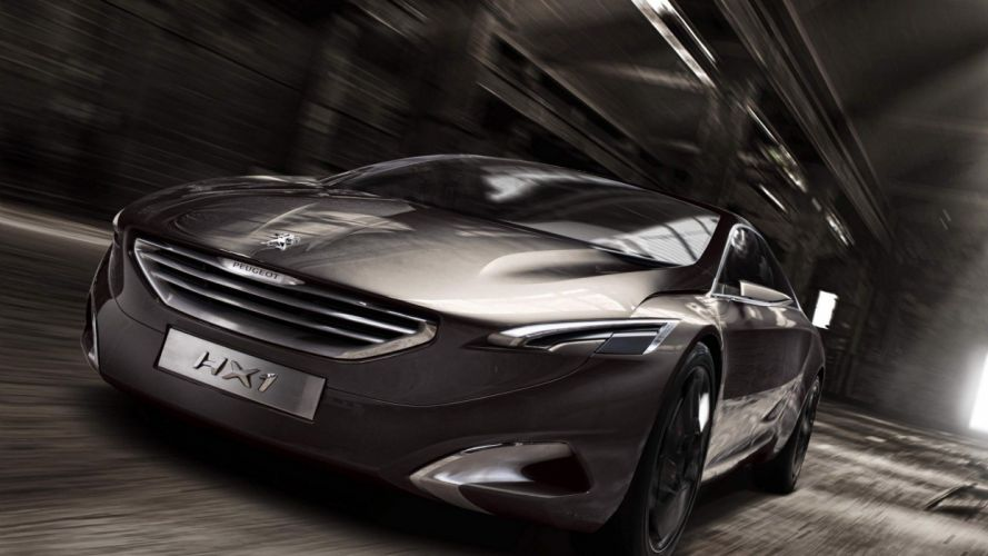 cars concept art sports cars Peugeot HX1 wallpaper