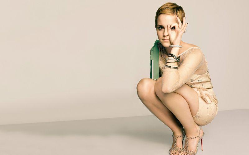 legs women Emma Watson actress high heels legs together wallpaper