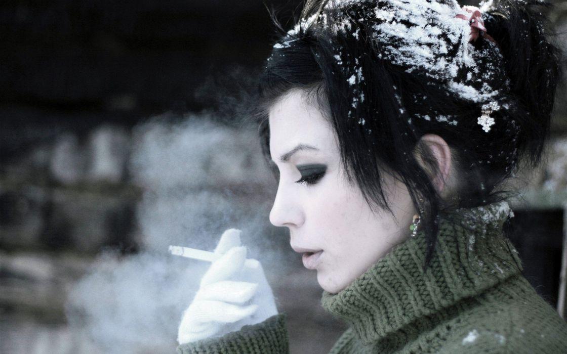 women smoking models wallpaper