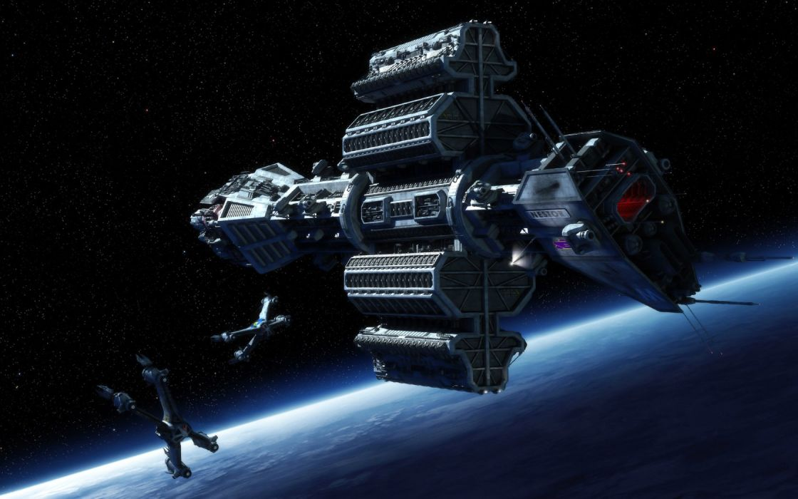 outer space stars planets spaceships Babylon 5 wallpaper
