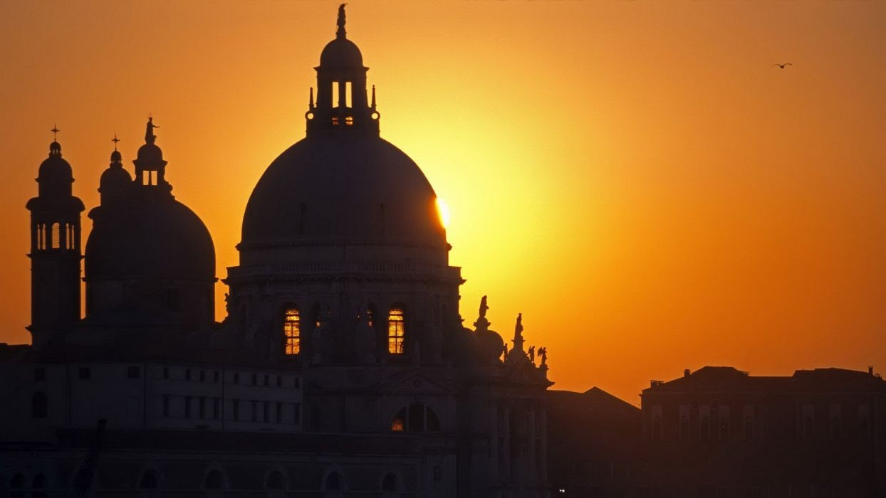 sunset architecture Venice Italy salute wallpaper