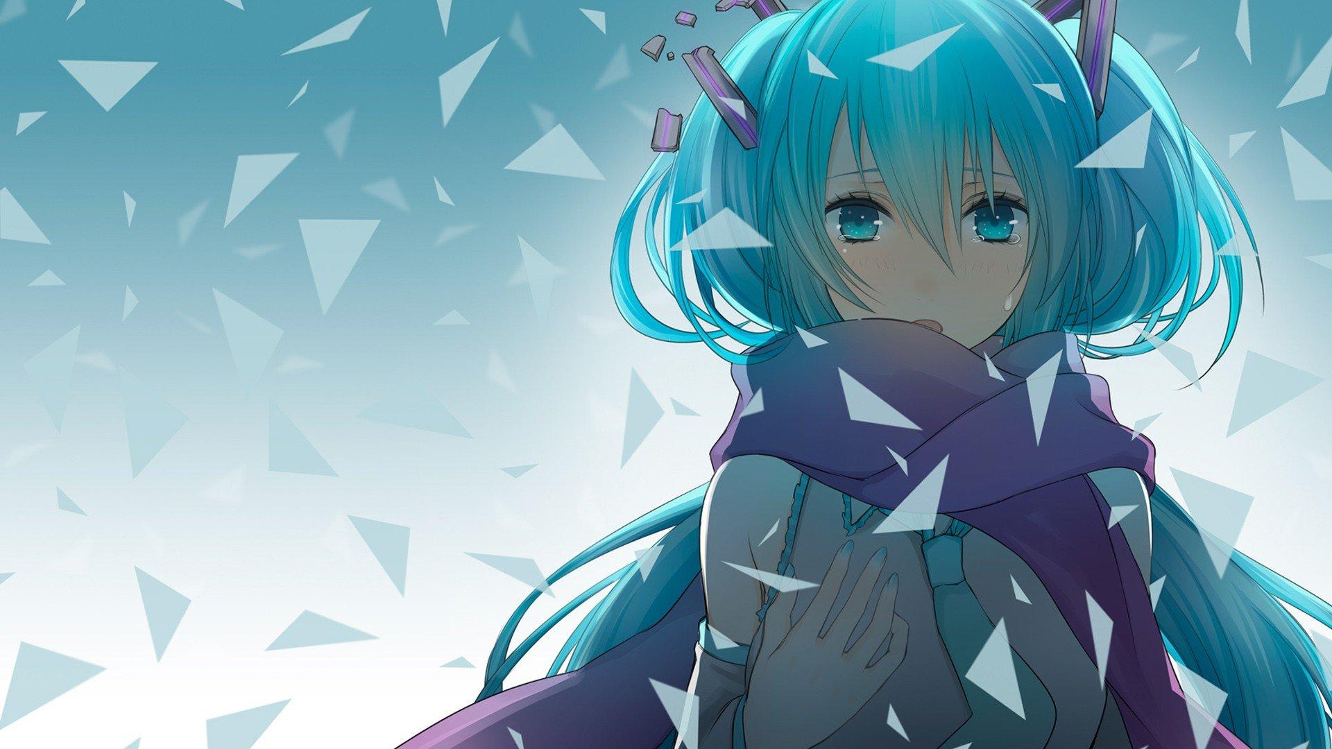 Vocaloid Hatsune Miku Scarfs Aqua Eyes Aqua Hair Anime Girls Wallpaper 1920x1080 299273 Wallpaperup