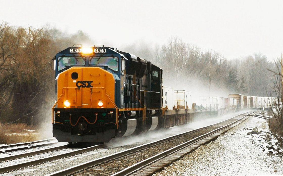 trains csx railroad tracks vehicles locomotives wallpaper
