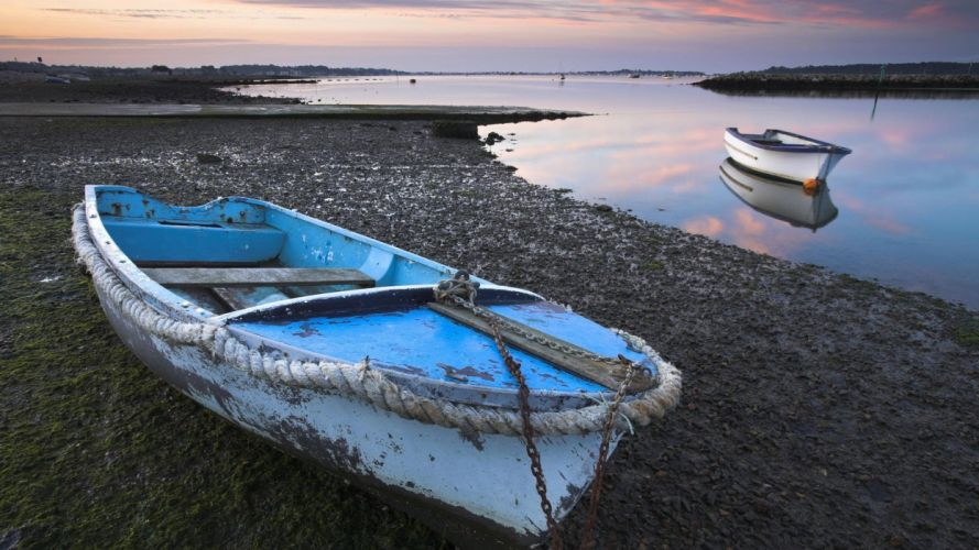 dawn England Harbor wallpaper