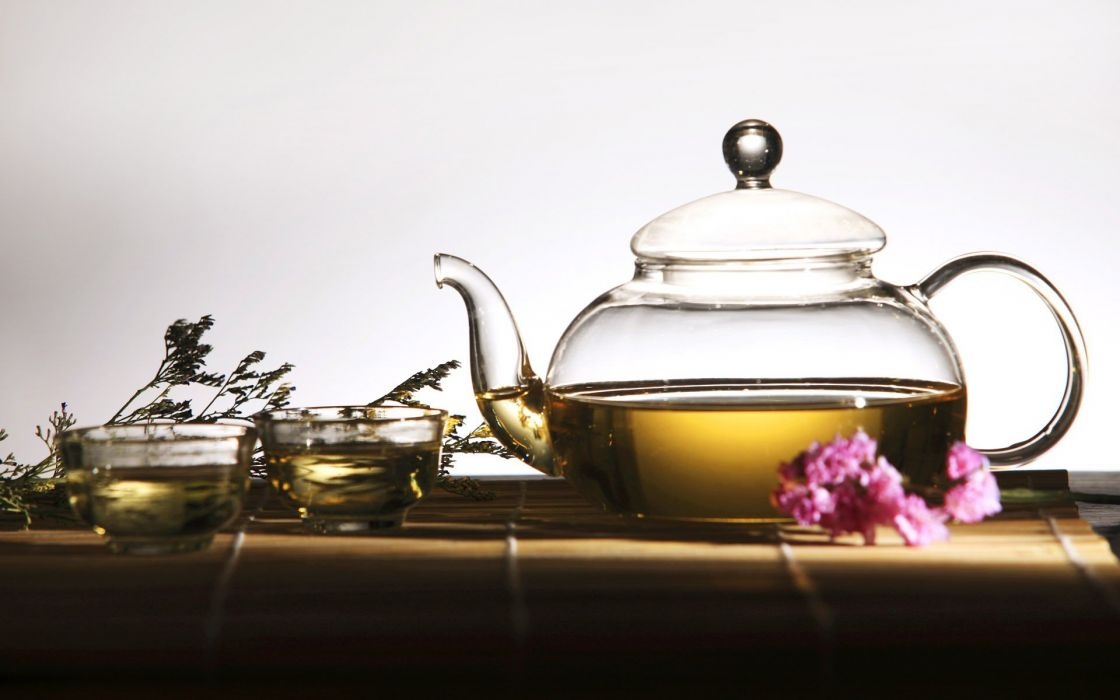 nature tea tea set wallpaper