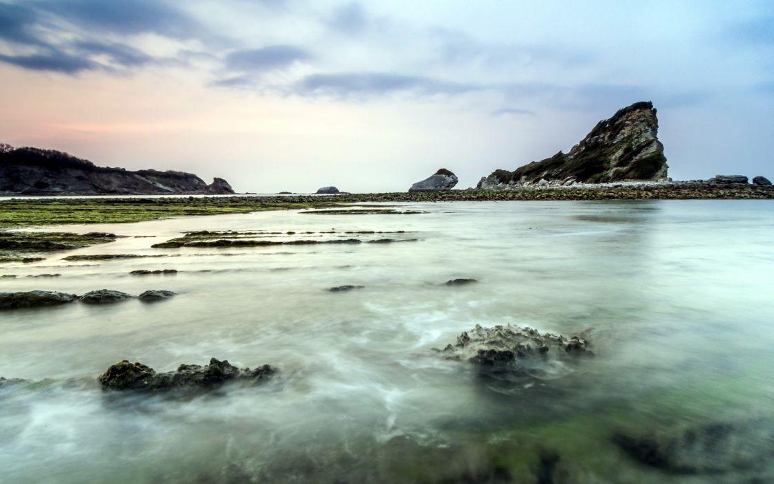 ocean nature rocks sea wallpaper