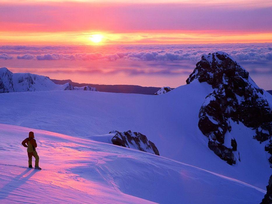 clouds landscapes nature snow wallpaper