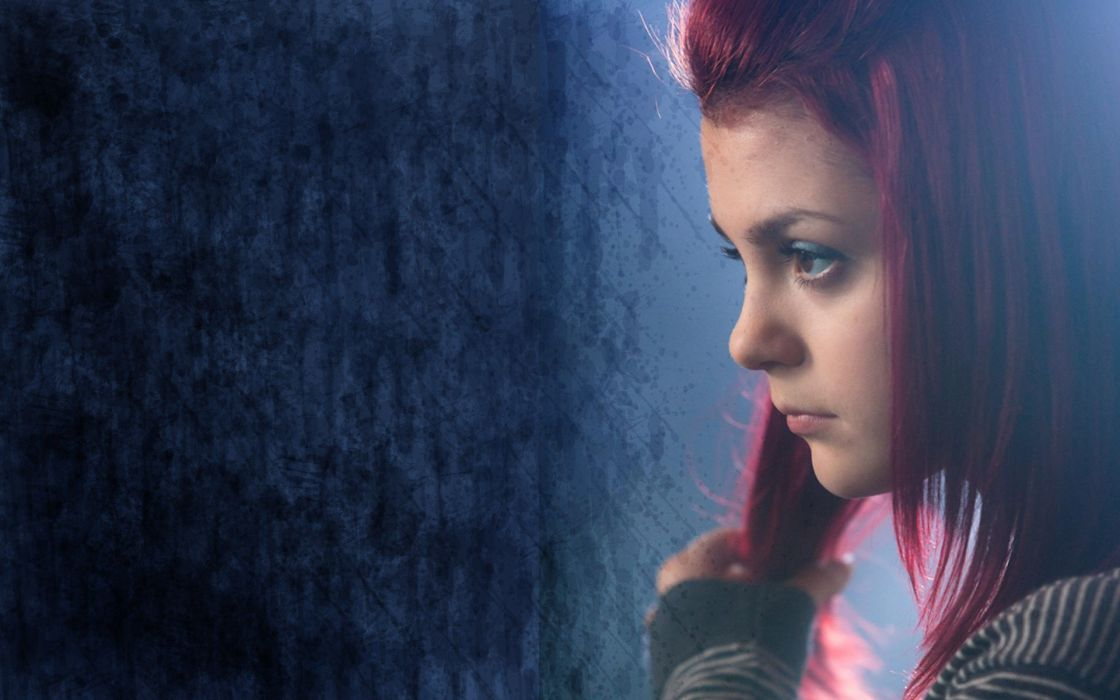 women redheads Skins (TV) Kathryn Prescott Megan Prescott wallpaper