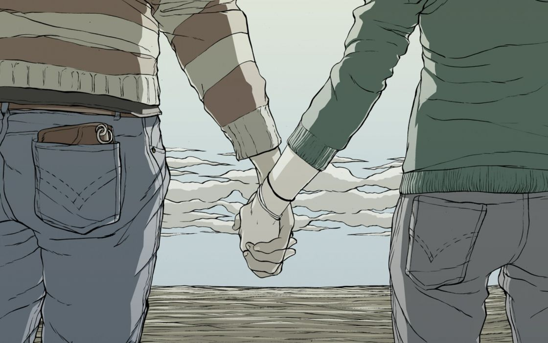 hands drawings holding hands wallpaper