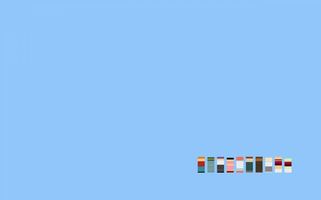 Futurama cartoons minimalistic simple background simple blue background TV shows wallpaper