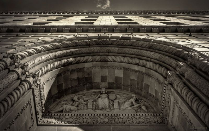 architecture monochrome wallpaper