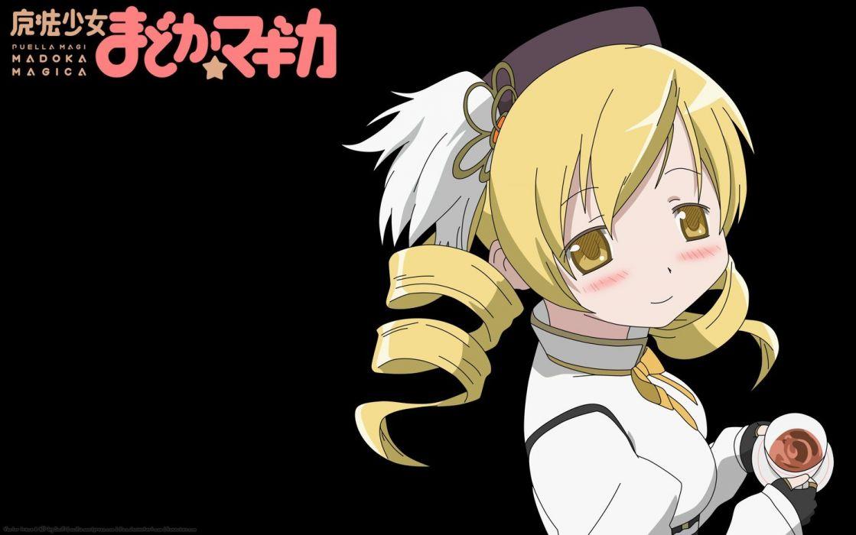 blondes tea yellow eyes Mahou Shoujo Madoka Magica Tomoe Mami anime anime girls wallpaper