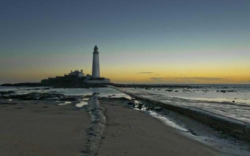nature lighthouses wallpaper
