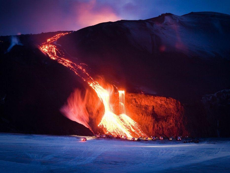 volcanoes Iceland wallpaper