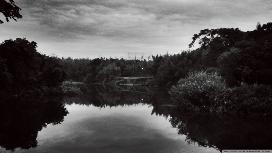 black and white landscapes nature rivers wallpaper