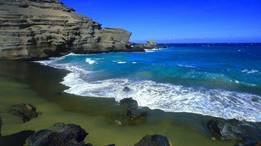 green Hawaii beaches wallpaper