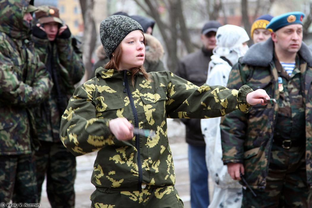 Military russian woman Turnir012014-03 wallpaper