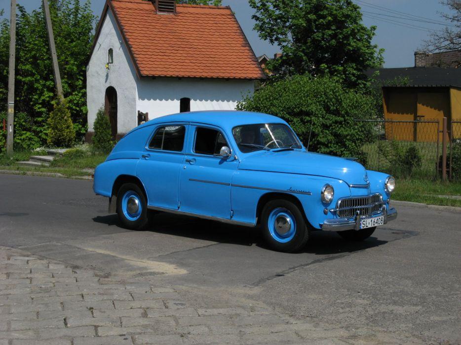 Warszawa v blede modrem wallpaper