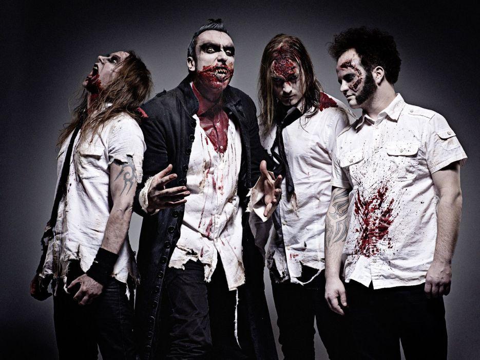 GOTHMINISTER gothic metal heavy dark monster zombie blood     f wallpaper
