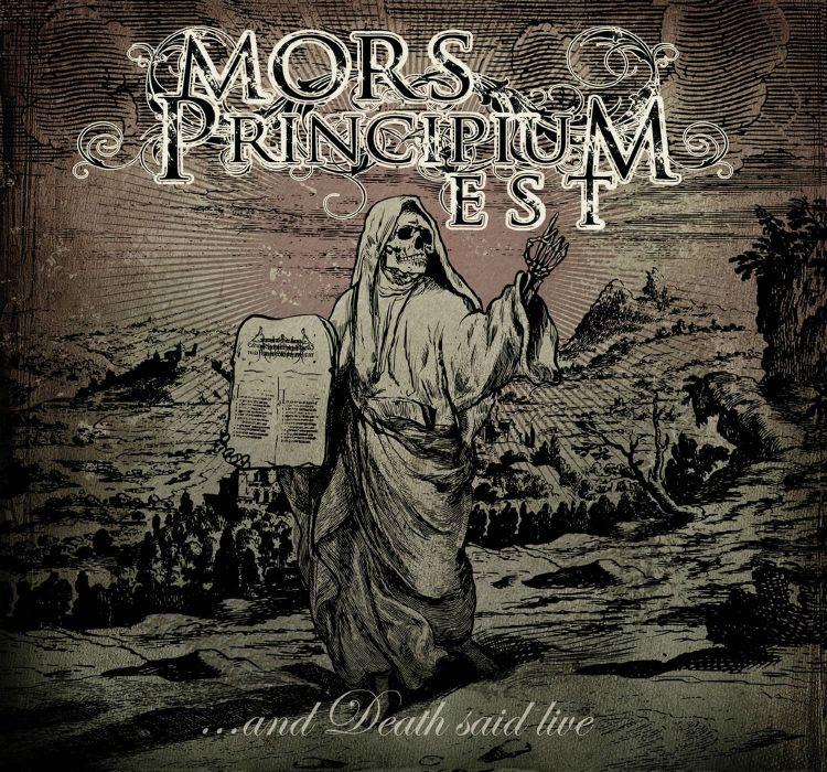 MORS PRINCIPIUM EST death metal heavy poster dark reaper     gd wallpaper