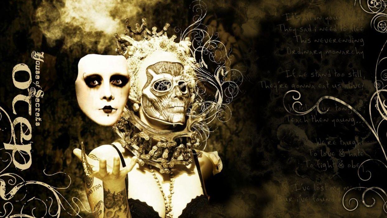 OTEP nu-metal heavy metal poster dark skull gothic   d wallpaper