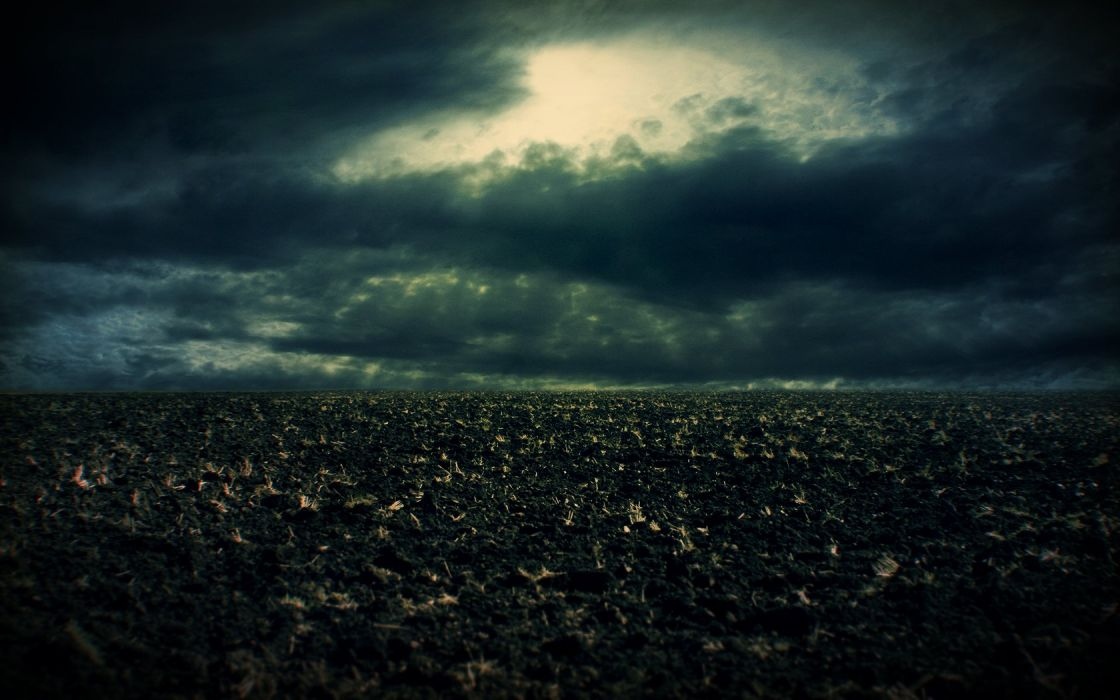 clouds dark storm fields dirt skyscapes wallpaper