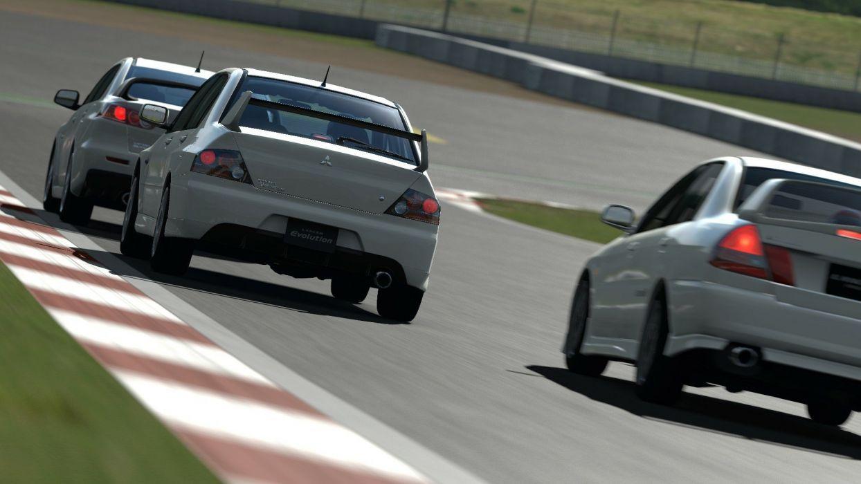 video games cars Mitsubishi Mitsubishi Lancer Evolution Gran Turismo 5 Playstation 3 wallpaper