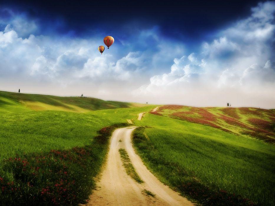 landscapes photo manipulation wallpaper