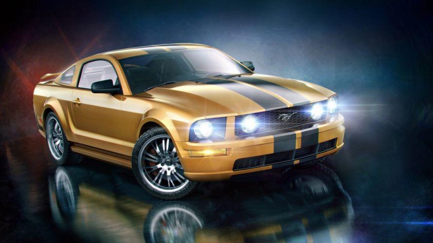 cars artwork vehicles Ford Mustang wallpaper