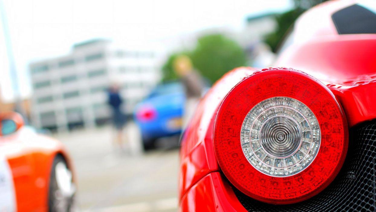 close-up cars Ferrari Ferrari 458 Italia taillights wallpaper