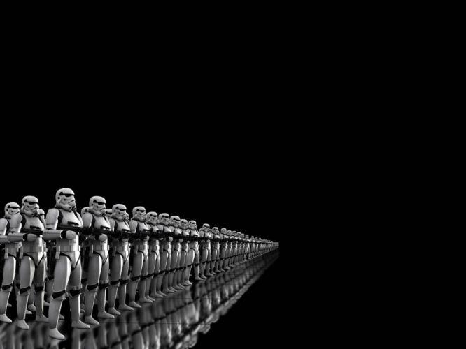 black background Stormtrooper wallpaper