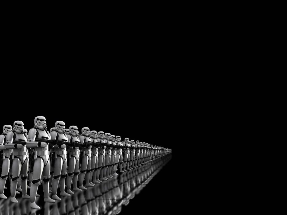 black background Stormtrooper wallpaper