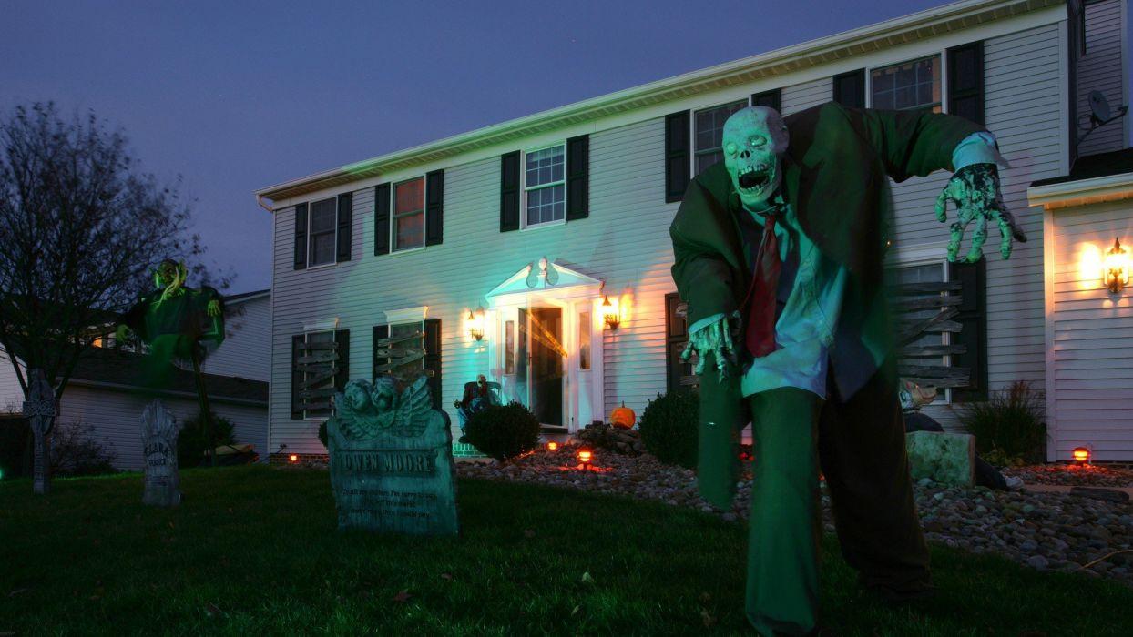 Halloween Ohio house wallpaper