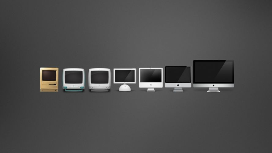 evolution comparisons Macintosh wallpaper
