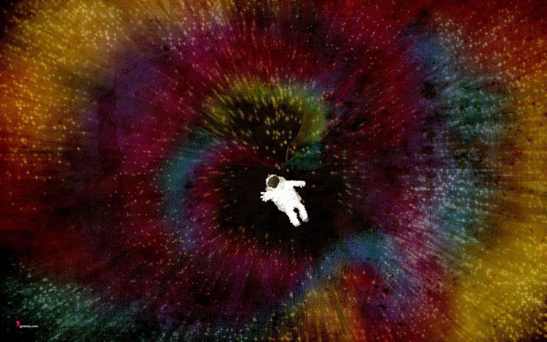multicolor astronauts wallpaper