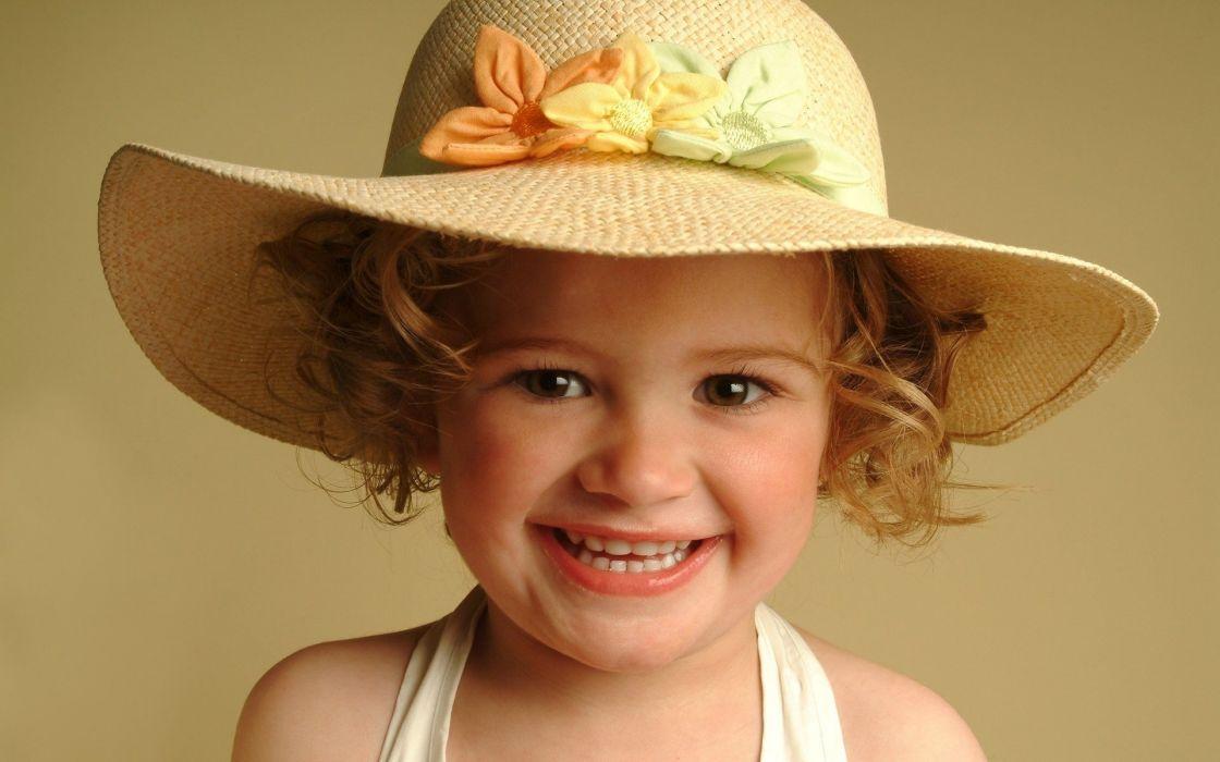 smiling hats children wallpaper