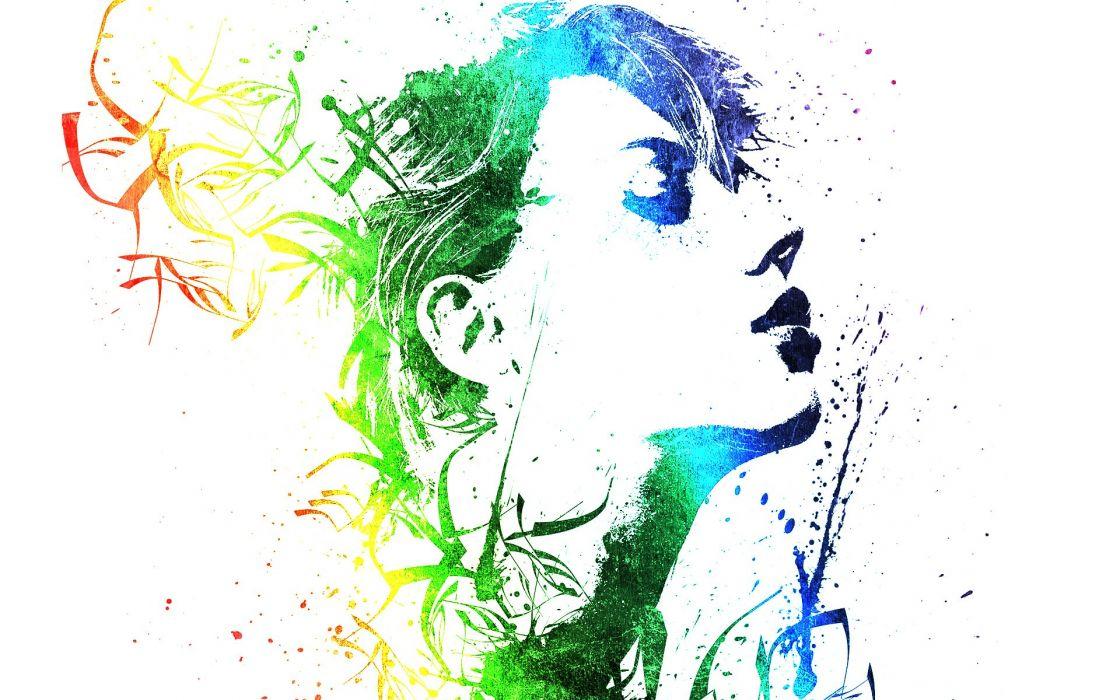 abstract Scarlett Johansson wallpaper