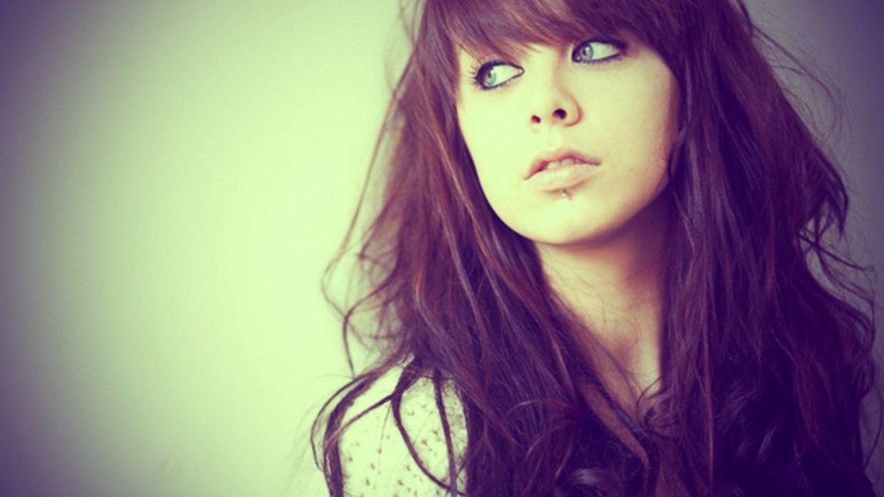 women eyes faces bangs models wallpaper