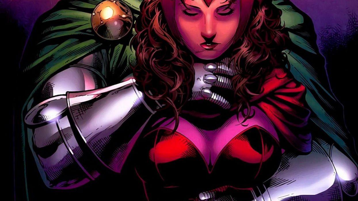 comics Marvel Comics Scarlet Witch comics girls Dr_ Doom Avengers wallpaper
